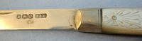 Silver Bladed Hallmarked 1920-1921 Sheffield Pocket Knife With Engraved Mother O  Knives for sale