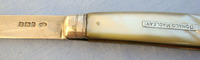 Victorian Silver Bladed Hallmarked 1900-1901 Sheffield Pocket Knife With Mother   Knives for sale