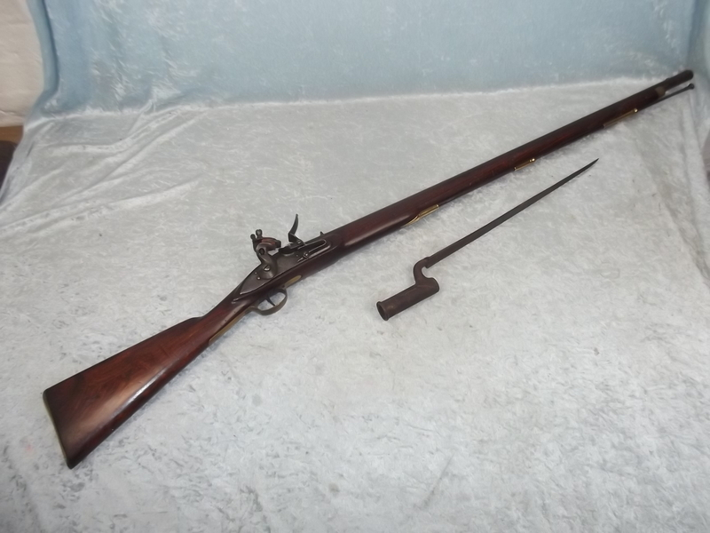 First Indian Pattern Brown Bess Flintlock Musket and Bayonet