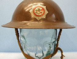 Tommy Helmet By FAI With Liner and Chinstrap. British Home Front, Worcester City and County Fire Brigade Tommy Helmet By FAI W