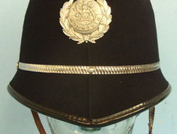 Monmouth Constabulary Male Constable\'s / Sergeant\'s Blue Serge Helmet To A 26  Monmouth Constabulary Male Constable's / Sergeant's Blue Serge Helmet To A 26 Wi
