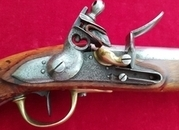 Ref 2964. A rare Napoleonic French Military Officers Flintlock Pistol dated 1813. Good condition.   Muzzleloader