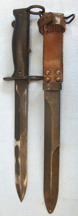 French M1956 Bayonet, Scabbard and Leather Frog French M1956 Bayonet, Scabbard and Leather Frog Blades