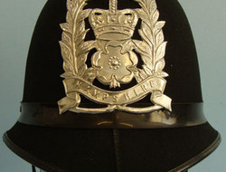 Hampshire Police Male Constable's / Sergeant's Blue Serge Helmet With Hampshire  Hampshire Police Male Constable's / Sergeant's Blue Serge Helmet With Hampshire