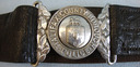 Victorian Period County Borough Police Uniform Leather Waist Belt, Buckle and Cl Halifax County Borough Police Uniform Leather Waist Belt, Buckle and Clasp. for sale in United Kingdom