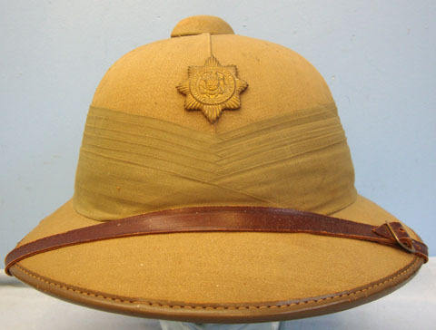 South African Police 6 Panel Solar Topee Pith Helmet & South African Police Helm South African Police 6 Panel Solar Topee Pith Helmet & South African Police Helm Accessories
