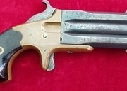 A rare Frank Wesson over & under .32 rim-fire Derringer. Circa 1868-1880. Ref 2006.   Muzzleloader