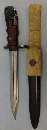 British No 7 MK 1/L Swivelling Pommel Bayonet With Red Composite Grips For No 4  No 7 MK 1/L Swivelling Pommel Bayonet With Red Composite Grips For No 4 Rifles a Blades