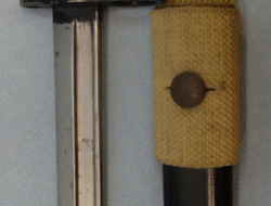 British No 7 MK 1/L Swivelling Pommel Bayonet With Red Composite Grips For No 4  No 7 MK 1/L Swivelling Pommel Bayonet With Red Composite Grips For No 4 Rifles a Bayonets