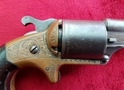 A scarce American Moores Patent front Loading Teat-Fire revolver. Manufactured C. 1870. Ref 9664   Revolver