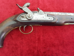British  military percussion Coastguard pistol. Marked with a Crown over V.R. Ref 9222   Muzzleloader