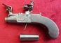 English Flintlock boxlock miniature muff  pistol by Holmes. Ref 9531   Muzzleloader