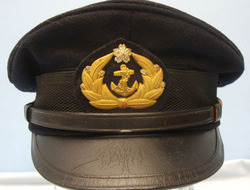 Japanese Naval Petty Officer's Visor Cap with Petty Officer's Badge. Japanese Naval Petty Officer's Visor Cap with Petty Officer's Badge.