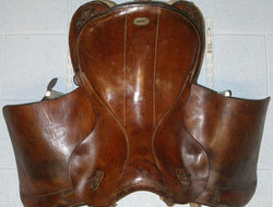 1936 German Military Leather Cavalry Saddle. L 158 - L 158 1936 German Military Leather Cavalry Saddle.