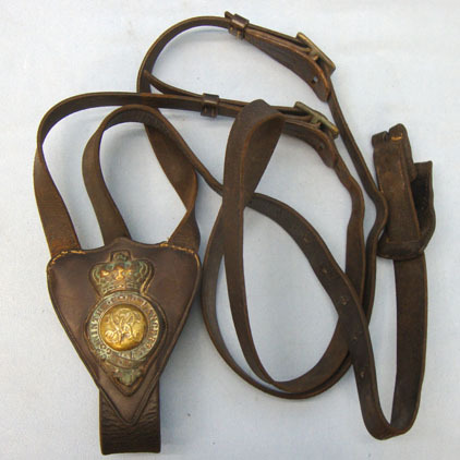 9th Lancers Standing Martingale With Breastplate Brass Badge.  Victorian 9th Lancers Standing Martingale With Breastplate Brass Badge.  Accessories