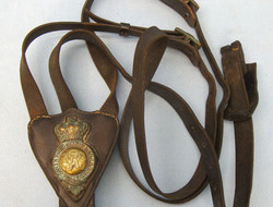 9th Lancers Standing Martingale With Breastplate Brass Badge.  Victorian 9th Lancers Standing Martingale With Breastplate Brass Badge.