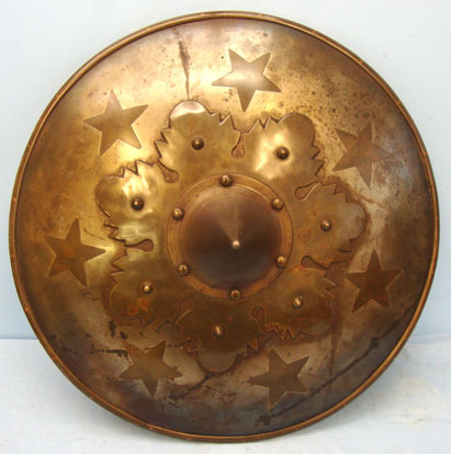 Victorian Copy of a heavy duty close combat Medieval Fighting Shield In Steel an Victorian Copy of a heavy duty close combat Medieval Fighting Shield In Steel an Accessories