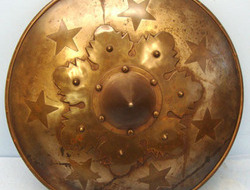 Victorian Copy of a heavy duty close combat Medieval Fighting Shield In Steel an Victorian Copy of a heavy duty close combat Medieval Fighting Shield In Steel an