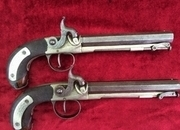 Pair of presentation percussion pistols. Made by J TARRATT of London. Dated 4th July 1837. Ref 9304   Muzzle loader