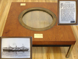 SS Catilian Porthole Rim Recovered From Scapa Flow With Porthole Glass From SMS  SS Catilian Porthole Rim Recovered From Scapa Flow With Porthole Glass From SMS