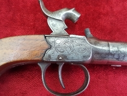English single barrelled Percussion pocket pistol with screw-off barrel. Ref 9363   Muzzleloader