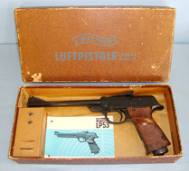 Walther LP 53 .177 Calibre, Air Pistol, Spare Sights & Illustrated instruction Pamphlet .177  Air Pistols