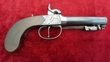 English single barrelled percusion pistol with spring bayonet. Ref 9473   Muzzleloader