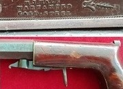 Ref 1451. An American 19th Century Boot-Leg percussion underhammer pistol by H. J. HALE. Circa1840.   Muzzleloader