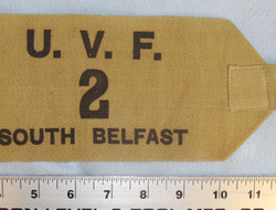 Ulster Volunteer Force (UVF) 2nd Battalion South Belfast Arm Band (2 available). Original, 1970's Ulster Volunteer Force (UVF) 2nd Battalion South Belfast Arm Ba