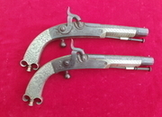 A fine pair of Scottish Highlander's percussion pistols by MURDOCH. Circa 1840. Ref 1863   Muzzleloader