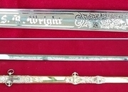 American Masonic or Lodge Sword from Texas. S. R. WRIGHT.  Good condition. Ref 8445. Swords