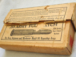DEACTIVATED INERT. Rare 20 Round Unfired Box of .30 Army Full Patch Rounds By Wi DEACTIVATED INERT. Rare 20 Round Unfired Box of .30 Army Full Patch Rounds By Wi