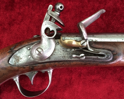 A scarce U.S. Military Flintlock Officers Pistol. Pre-dating the American Civi War marked Milbury MS. 1842 Ref 7887 Pistol / Hand Guns