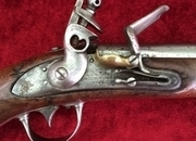 A scarce U.S. Military Flintlock Officers Pistol. Pre-dating the American Civi War marked Milbury MS. 1842 Ref 7887   Muzzleloader