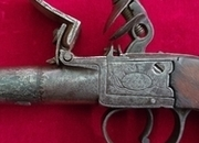 Ref 2874. An English Flintlock pistol with a screw-off barrel by Lowe of Chester. Circa 1800. None  Muzzleloader
