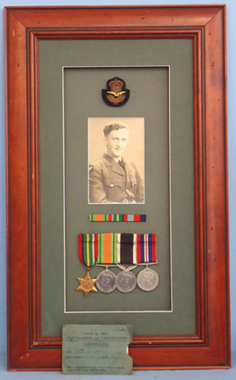 Framed Group Of Medals To A New Zealand Airman. Framed Group Of Medals To A New Zealand Airman. Accessories