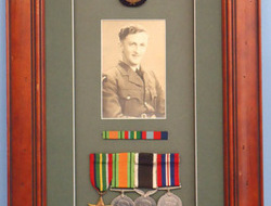 Framed Group Of Medals To A New Zealand Airman. Framed Group Of Medals To A New Zealand Airman.