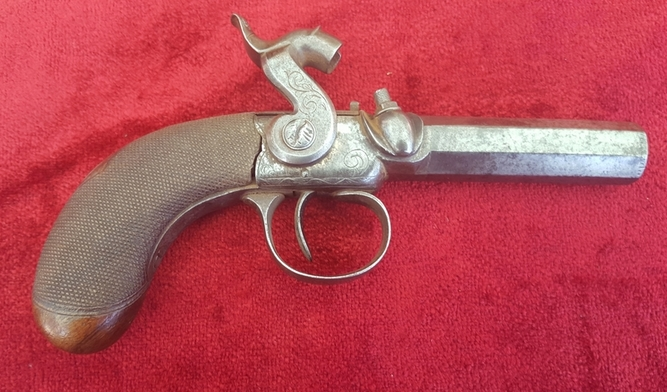 English Antique single barrelled Percussion pistol  by Williams of Liverpool. Ref 9548 Pistol / Hand Guns