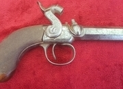 English Antique single barrelled Percussion pistol  by Williams of Liverpool. Ref 9548   Muzzleloader