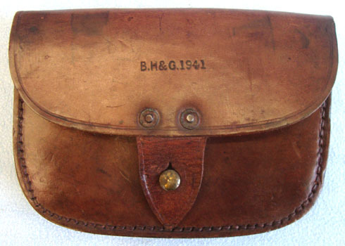 B.H. & G. Royal Navy Leather Amunition Pouch By B.H. & G Accessories