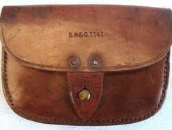 B.H. & G. Royal Navy Leather Amunition Pouch By B.H. & G