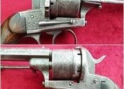 A good Belgian 13mm Pinfire 6 shot revolver by A FRANCOTTE. C. 1865. Ref 8542.   Revolver