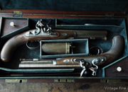 1820 Cased pair of duelling pistols .65  Muzzleloader
