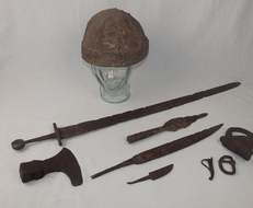 9th Century Viking Burial Kit  Other Blades