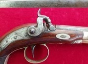 A good single shot percussion pistol by Richards of London. Circa 1840. Ref 2105.   Muzzleloader