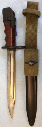 No 7 MK 1/L Swivelling Pommel Bayonet With Red Composite Grips For No 4 Rifles,  British No 7 MK 1/L Swivelling Pommel Bayonet With Red Composite Grips For No 4  Blades