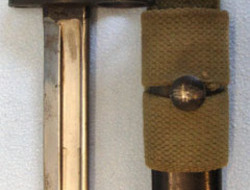 No 7 MK 1/L Swivelling Pommel Bayonet With Red Composite Grips For No 4 Rifles,  British No 7 MK 1/L Swivelling Pommel Bayonet With Red Composite Grips For No 4  Bayonets