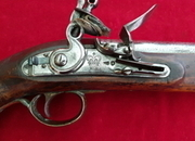 A very good British Military New Land pattern officers Flintlock Pistol engraved W.R. Ref 1664.   Muzzleloader