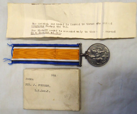 British War Medal To Private James Forrest 39824 Of The Loyal North Lancashire R British War Medal To Private James Forrest 39824 Of The Loyal North Lancashire R Accessories