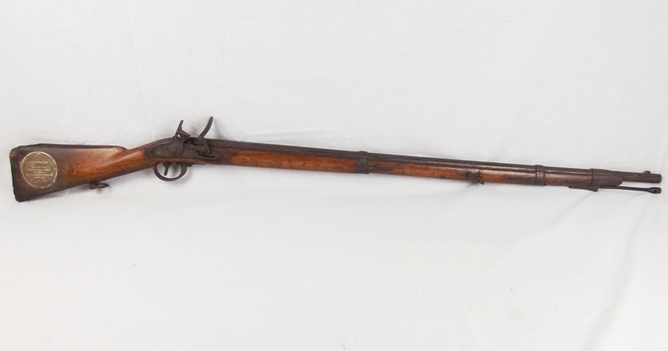 C1817 French Musket From HMS Tricomalee Gifted to Portsmouth City  Rifles